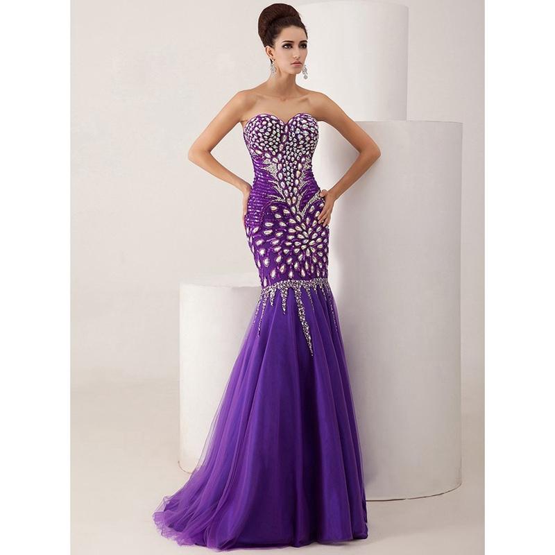 robe de soiree purple evening dresses 2016 sweetheart. Black Bedroom Furniture Sets. Home Design Ideas