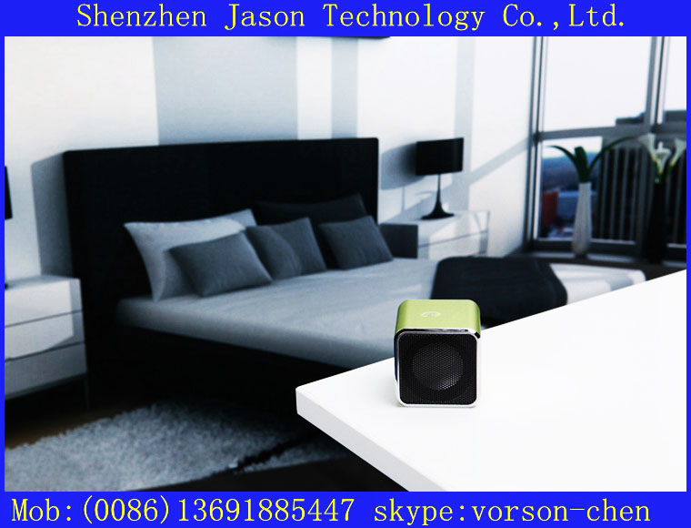 mini wireless speaker portable with microphone jack(China (Mainland))