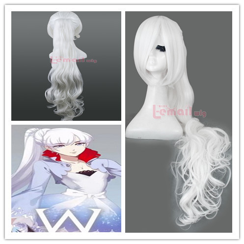 Hot New Anime Grey  Synthetic Hair 90cm Trailer Long Ponytail Cosplay For Halloween Party  Lace wigs zy54<br><br>Aliexpress