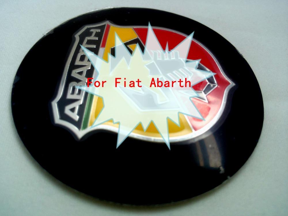 656.5MM Car Wheel Center Cap Hub Aluminum Emblem Sticker Decal FIT Fiat Abarth New - AUTO MAXX store