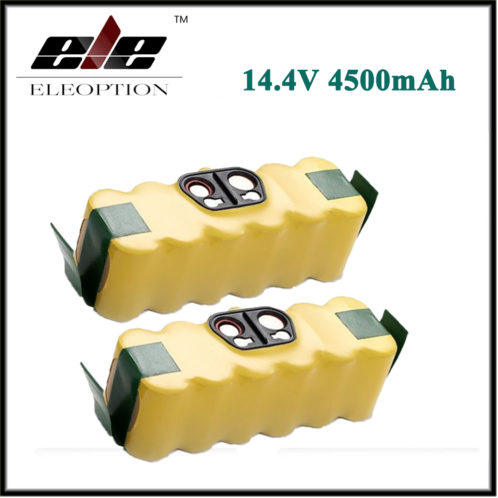 2x 14.4V 4500mAh For iRobot Roomba Ni-MH Vacuum Cleaner Rechargeable Battery for 500 550 560 600 650 700 780 800(China (Mainland))