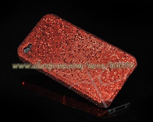 For iPhone 4G Zirconia Series Bling Hard Case