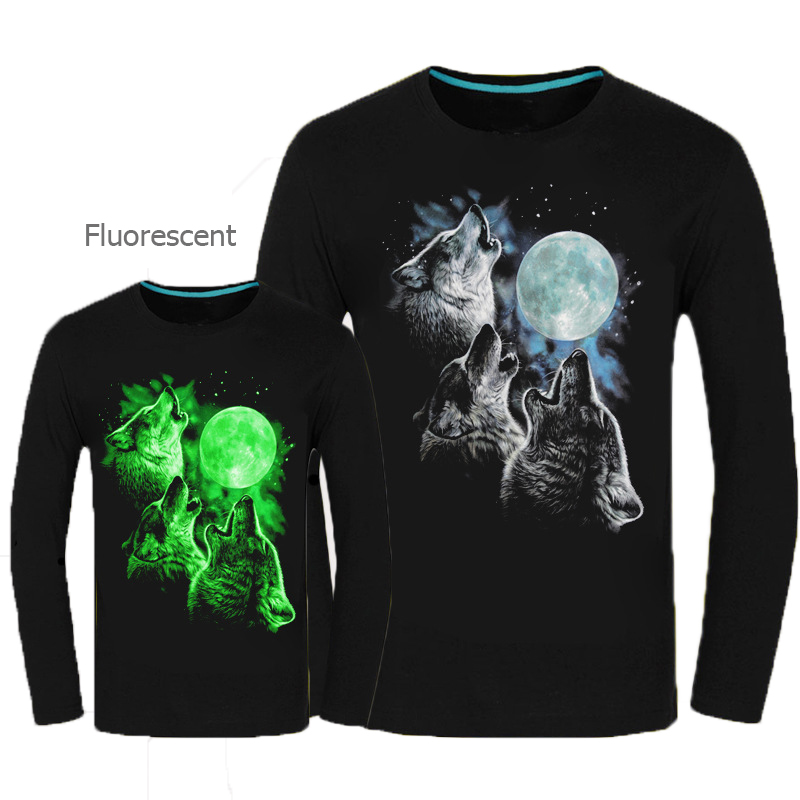2016 autumn new arrival fluorescent personalized long for Personalized long sleeve t shirts