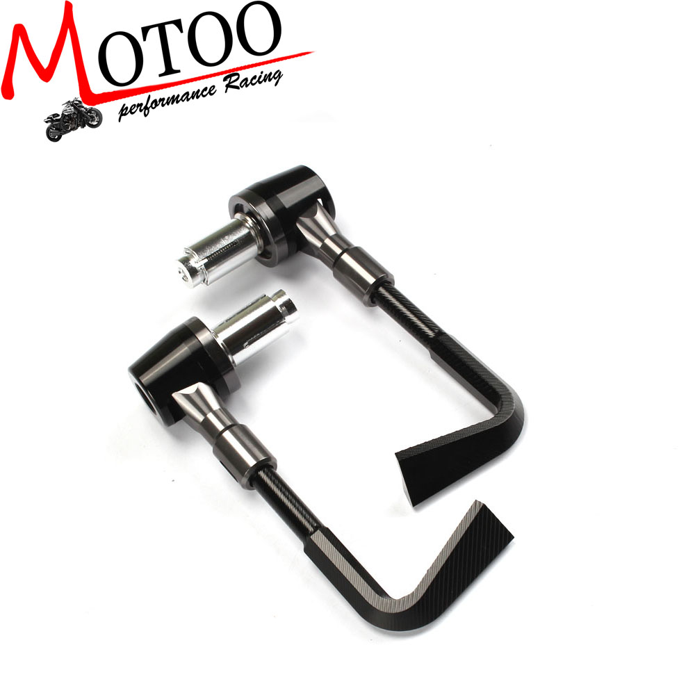 Motoo - Aluminum Protector Handlebar Brush Motorcycle Proguard Brake Clutch Levers Protect Guard Autobicycle Handgrip motorcycle parts co., LTD store