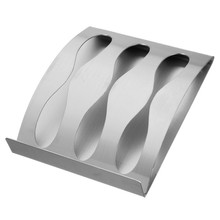 Stainless Steel Wall Toothbrush Holder 3 Position Tooth Brush Organizer Box Non-sucker Decorative Bathroom Accessories(China (Mainland))