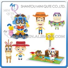 Mini Qute WISE HAWK kawaii Anime super mario toy story buzz woody Arale cartoon diamond plastic building blocks educational toy