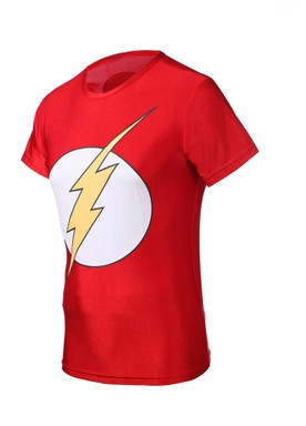 Hot Sale 2015 summer Marvel Super Hero The Flash Compression shirt, Men Sport Fitness Running T shirt , Men Gym Tights Clothes(China (Mainland))