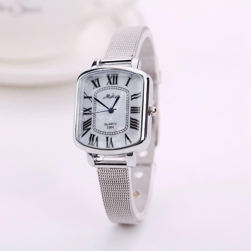 Гаджет  2015 Women Girl Lady Fashion Roman Numerals Strap Automatic Mechanical Quartz Analog Wrist Watch Hot None Часы
