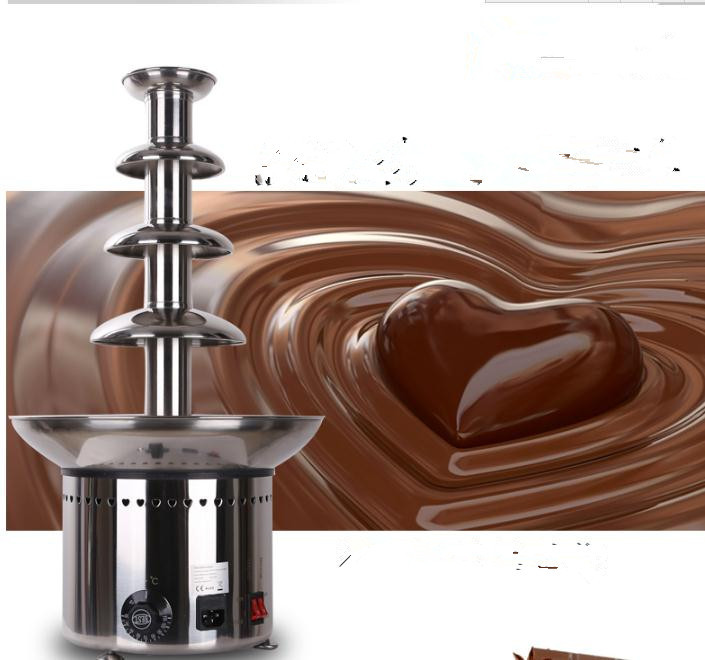 4 Tiers 60cm 304# Stainless steel Chocolate Fountain D20096 for Commercial company & home used, CE Approved