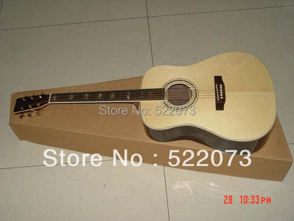 best china guitar Acoustic Dreadnought Guitar Spruce TopRosewood BackAbalone Binding Body OEM(China (Mainland))