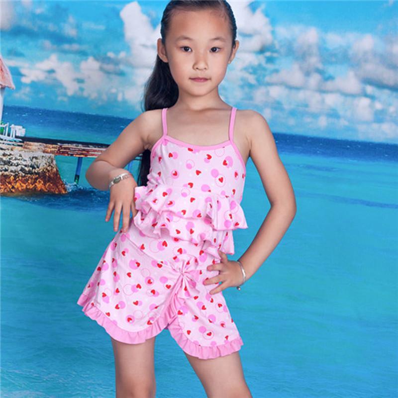 Girls Swim Dress Kids Striped Bathing Suit Swimsuit Polka Dot Swimwear Beachwear