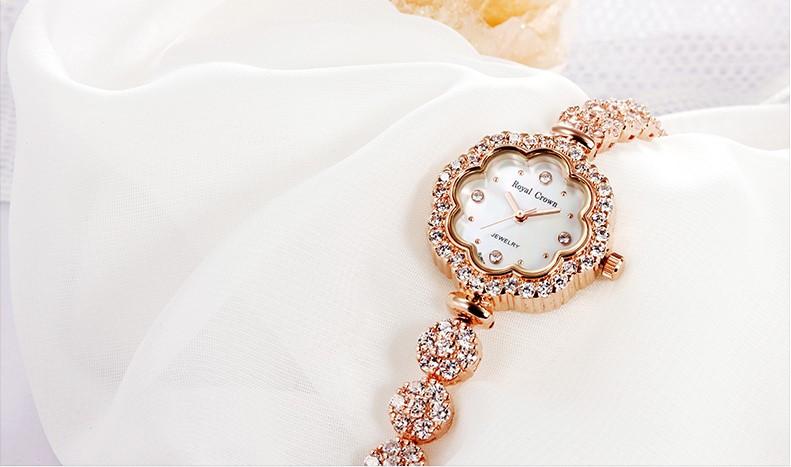 Shell Роскошные Стразы Подсолнечника женские Часы Япония Кварцевых Часов Лучший Моды Платье Браслет Девушка Подарок На День Рождения Коробка 3816