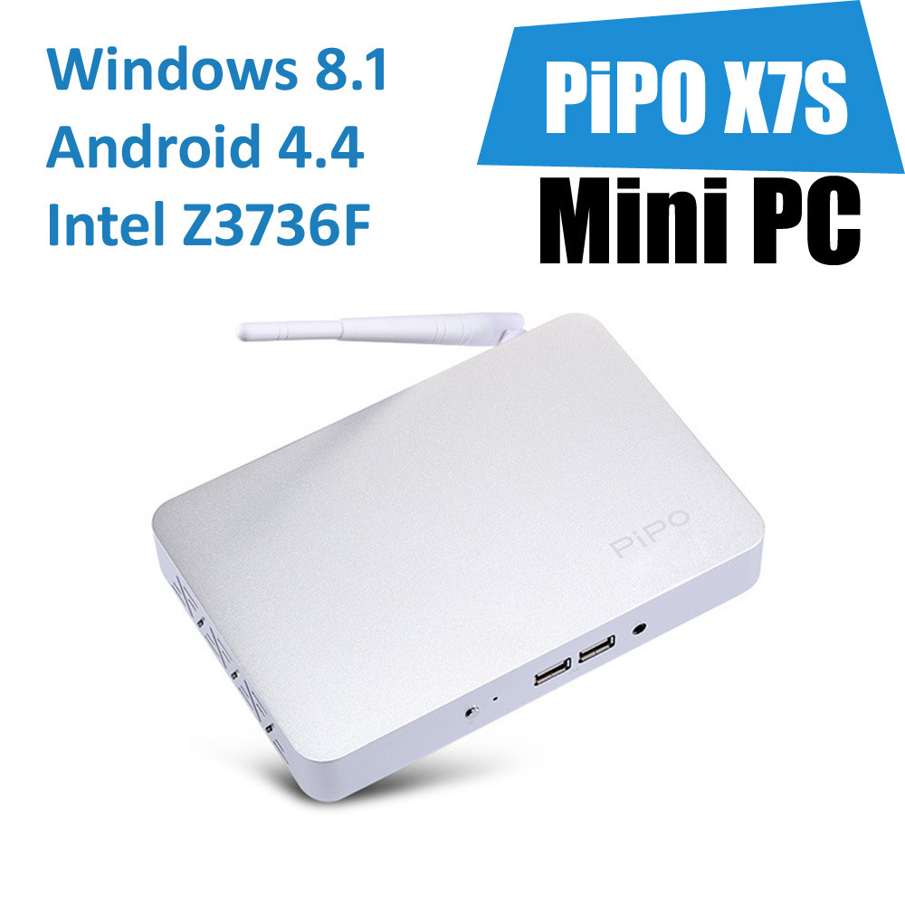 Hot PIPO X7S Mini PC Windows 8.1&Android4.4 Dual OS Smart Android TV Box Stick Intel Atom 2.16GHz Quad Core 2GB/32GB Thin Client(China (Mainland))