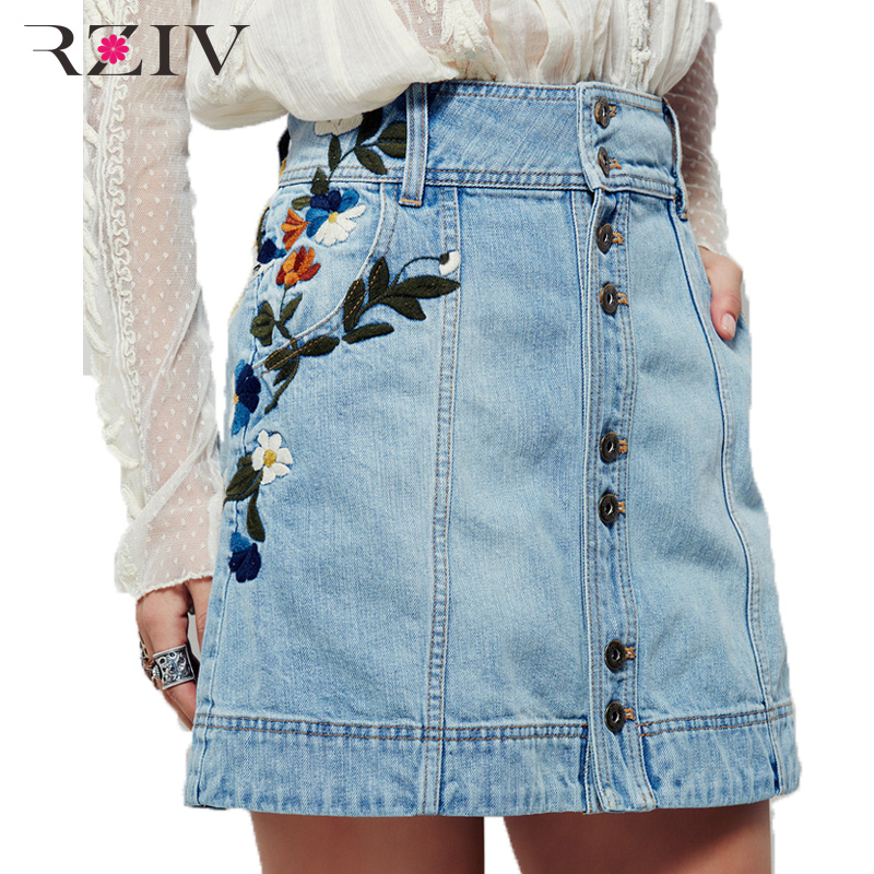 Denim skirt embroidered – Modern skirts blog for you