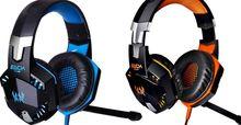 Elke g2000 over- oor game gaming headset oortelefoon hoofdband hoofdtelefoon met microfoon stereo bass led light voor pc spel