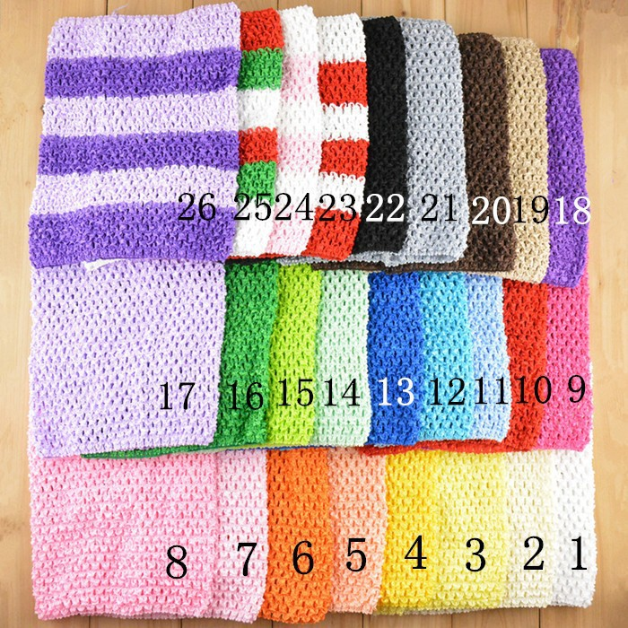 200pcsRetail New 20cmX23cm Baby Girl 9inch Crochet Tutu Tube Tops Chest Wrap Wide Crochet headbands Christmas gift free shipping(China (Mainland))