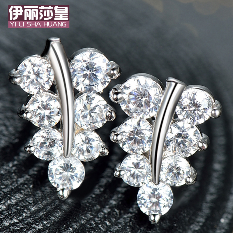 In 2015, Japan and South Korea adorn article 925 sterling silver AAA senior women jewelry earring stud earrings gift stars (China (Mainland))