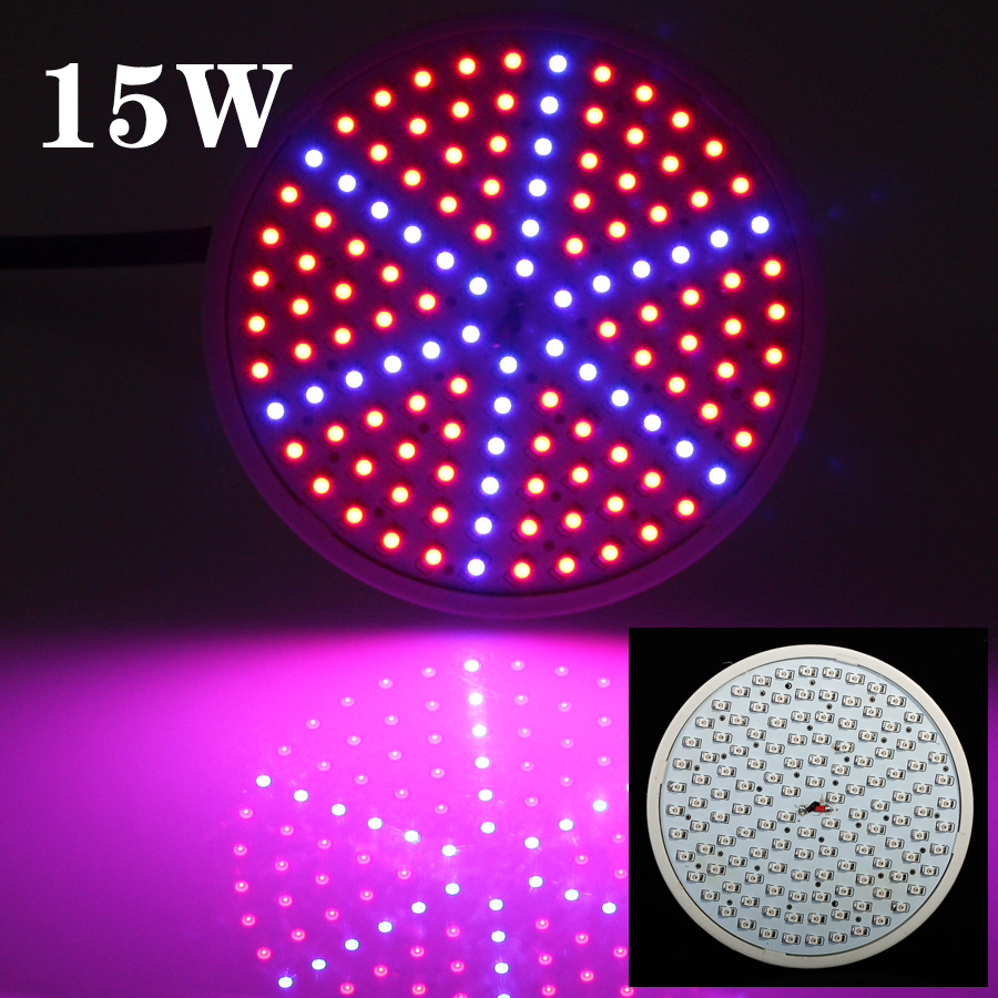 Full spectrum Led Plant Grow light 15W E27 90Red:36Blue 126SMD for hydroponics equipment /indoor grow box /grow tent(China (Mainland))