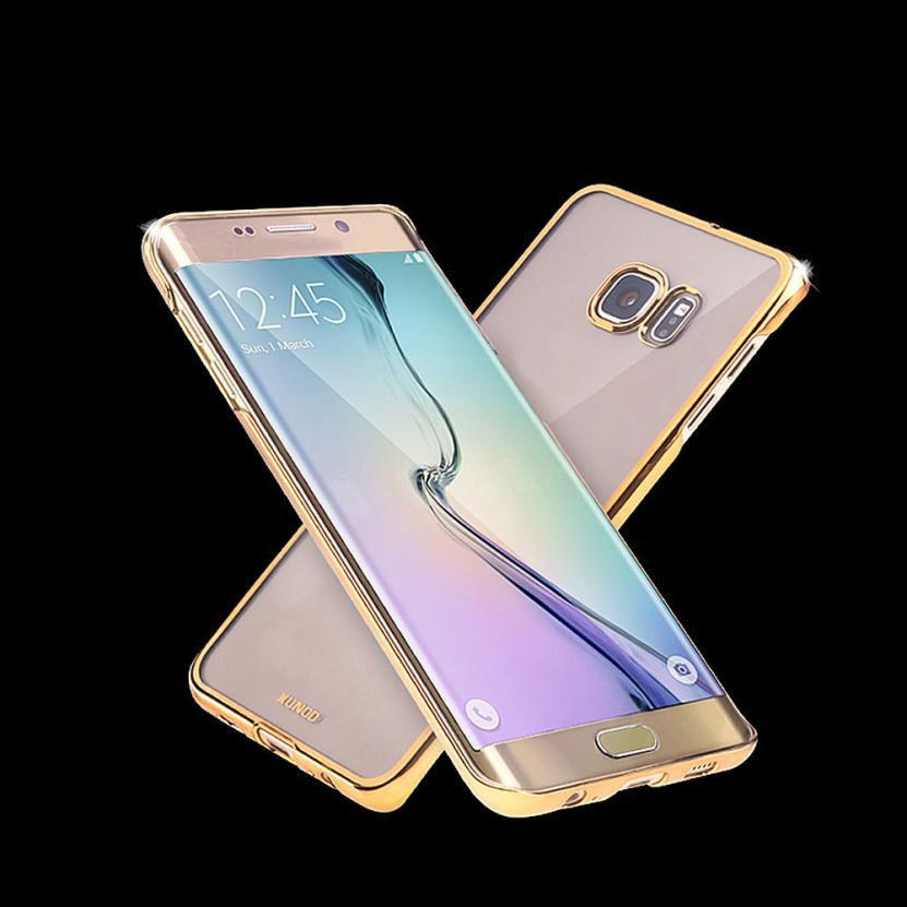 Top Quality Luxury Plating Slim Case For Samsung Galaxy S6 Edge Plus Cover Phone Shock Proof Shell for S6 Edge+ PC Skin S1(China (Mainland))