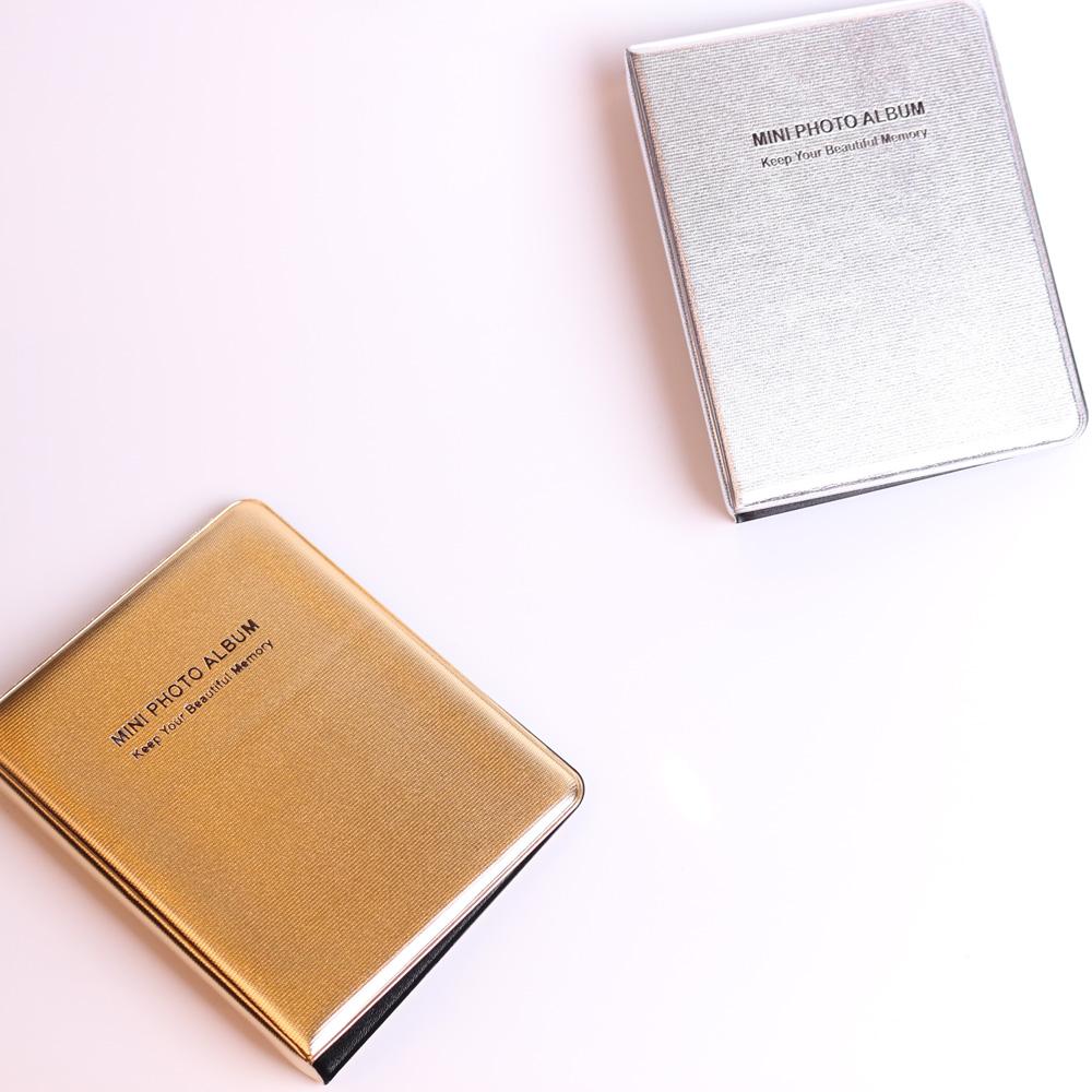 64 Pockets Gold Album Case for Fujifilm Mini Film Polaroid Photo, Instax Mini Photo Album For Fujifilm Camera 8/7s/25(China (Mainland))