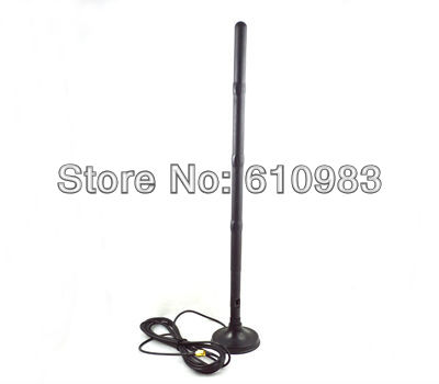 Free shipping 1 piece 2.4G wifi 15dbi RP-SMA Antenna for Router Network + Magnet Base magnetic stand RP SMA connector