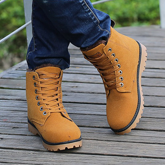 Гаджет  Motorcycle boots botas masculina 2015 new Thick warm snow boots men shoes botas masculinas men winter boots ankle boots men None Обувь