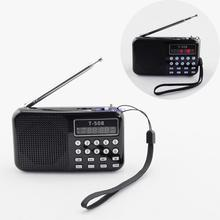 New Classic FM Radio receiver MP3 Music Player Speaker Supported USB Disk/TF Card Playing Christmas Gift to Elder Retail