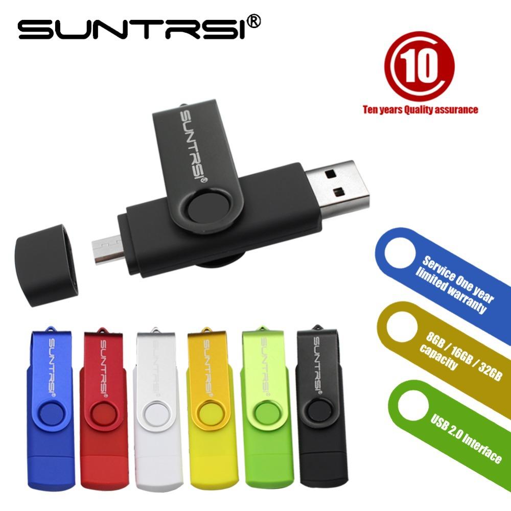 suntrsi pen drive 32gb 16gb Smart Phone USB Flash Drive pendrive 8gb 4gb OTG external storage micro usb memory stick for Samsung(China (Mainland))