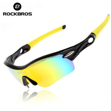 Buy ROCKBROS Polarized Cycling Glasses Outdoor Sports Bicycle Glasses Men Sport Bike Sunglasses TR90 Goggles Eyewear 5 Lens, 3Color for $12.33 in AliExpress store