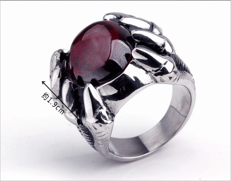 Fashionable Octopussy Ruby Cast Stainless Steel 316L Titanium Men's Ring Finger Influx People Pull Men Jewelry  -  Unforgettable Accessories store