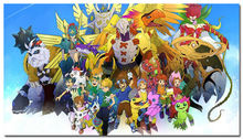 Digimon Adventure Tri Japan Anime Silk Fabric Poster Print 24×43 inch 003