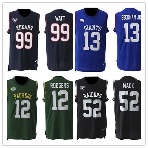 Houston Texans #99 J.J. Watt Green Bay Packers #12 Aaron Rodgers Oakland Raiders #52 MACK Furnishing gloves(China (Mainland))
