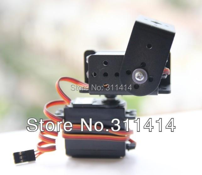 1set 2 DOF Short Pan And Tilt Servos Bracket Sensor Mount Kit For Robot Arduino Compatible MG995 Wholesale Retail Free Shipping(China (Mainland))