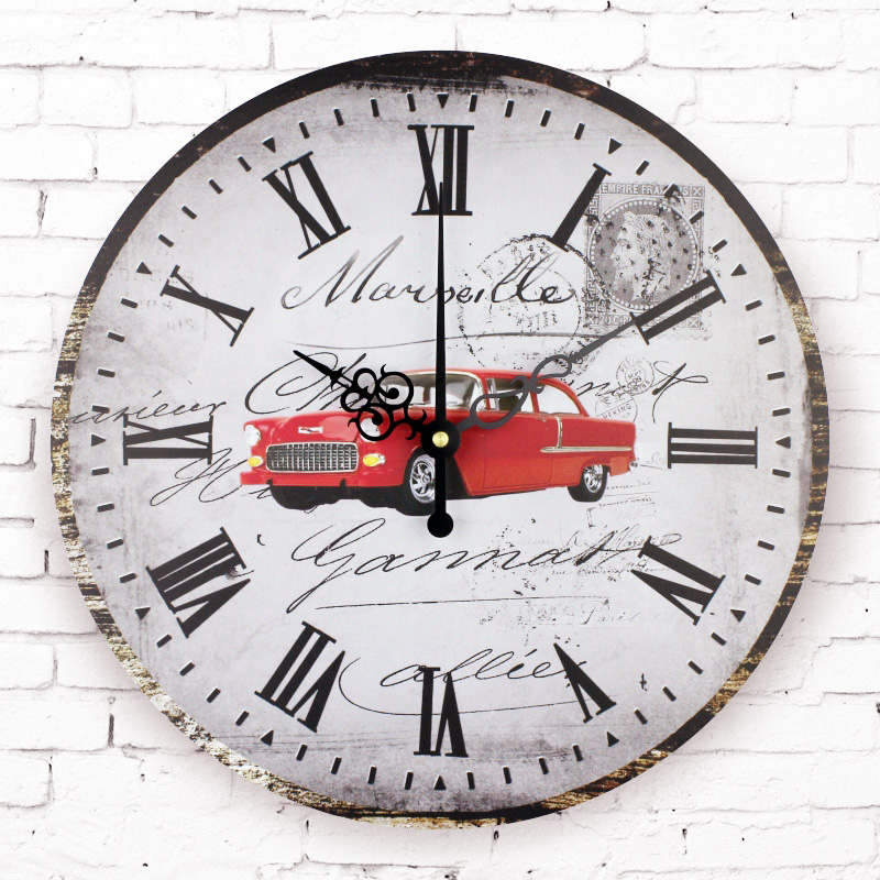 Antique Wall Clock Absolutely Silent Large Decorative Wall