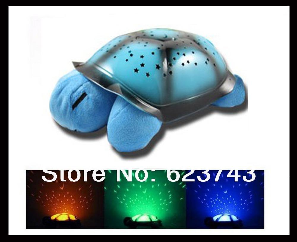 Children toys turtle led night light usb cable music light mini projector lamp 4 colors 4 song - Turtle nite light ...