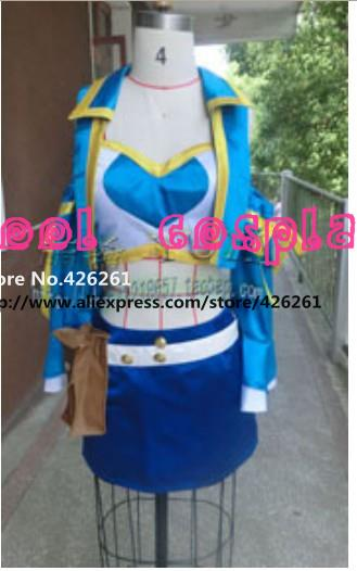 Fairy Tail Lucy Heartfilia Cosplay Costume New Version Any Size