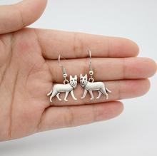 Boho Chic Vintage German Shepherd Drop Earrings Dog Brincos Big Long Women Boucle D'oreille Indian Jewelry - Q Y store