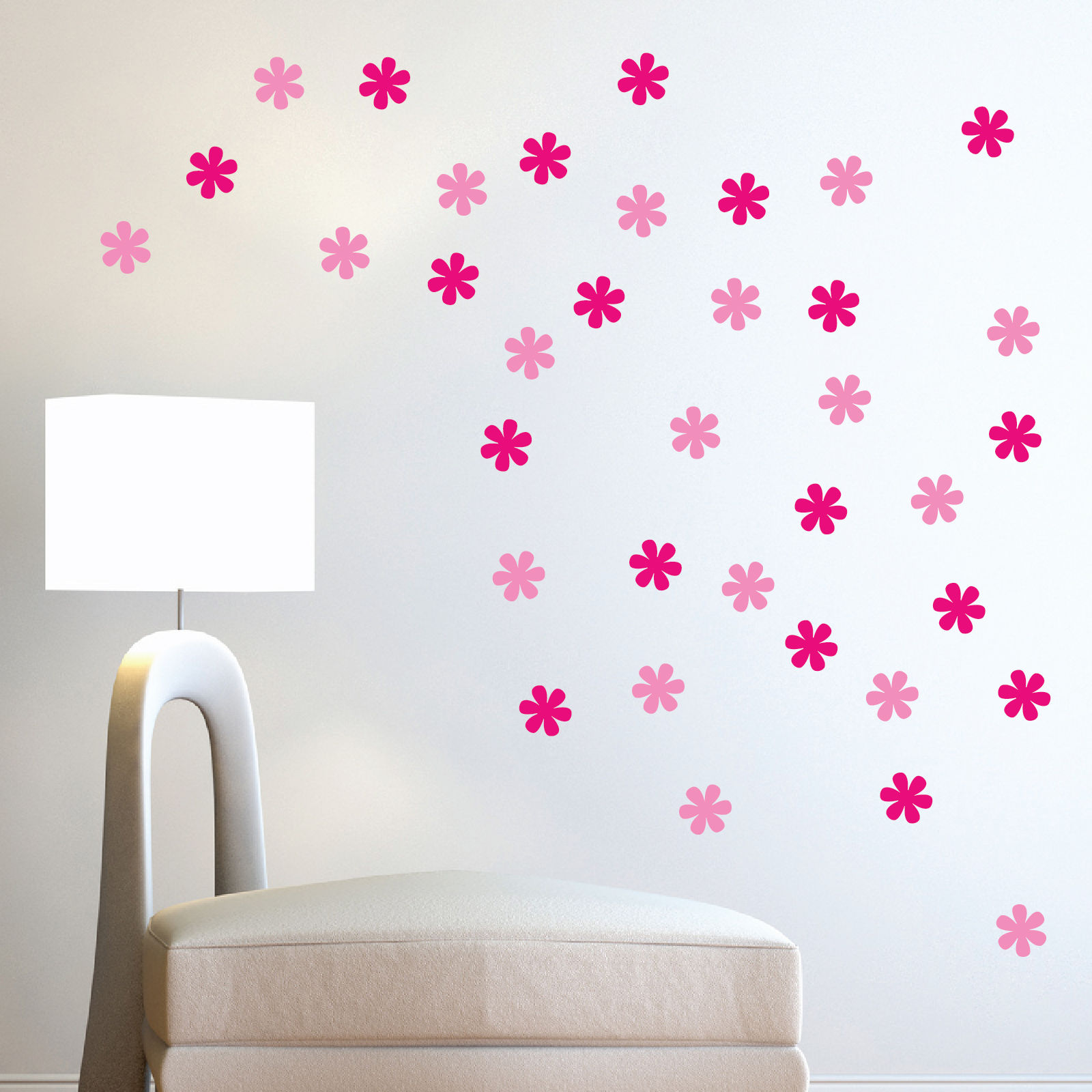 /buy 2 get 1 free/ set 24pcs removable Flower glue stickers for home Wall furniture door car decor(China (Mainland))