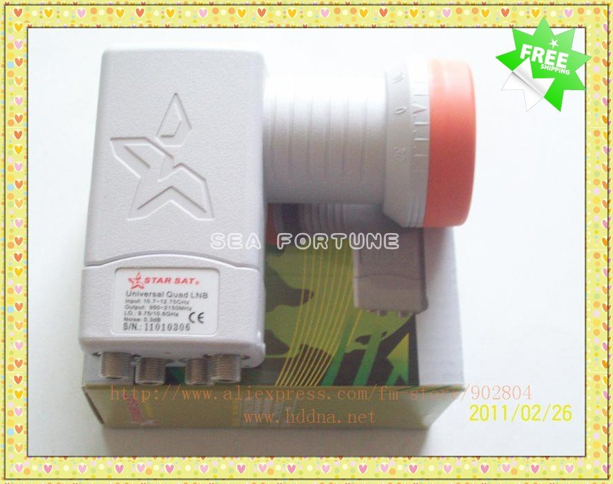 Famous LNB Star, Universal Quattro LNBF,High quality weather protection,Four Receivers Share One LNB, Free Shipping(China (Mainland))