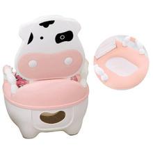 Portable Baby Pot Cartoon Toilet Seat Potty Toilet Bowl Training Pan Children's pot Kids Bedpan Comfortable Backrest Cute Pots(China)