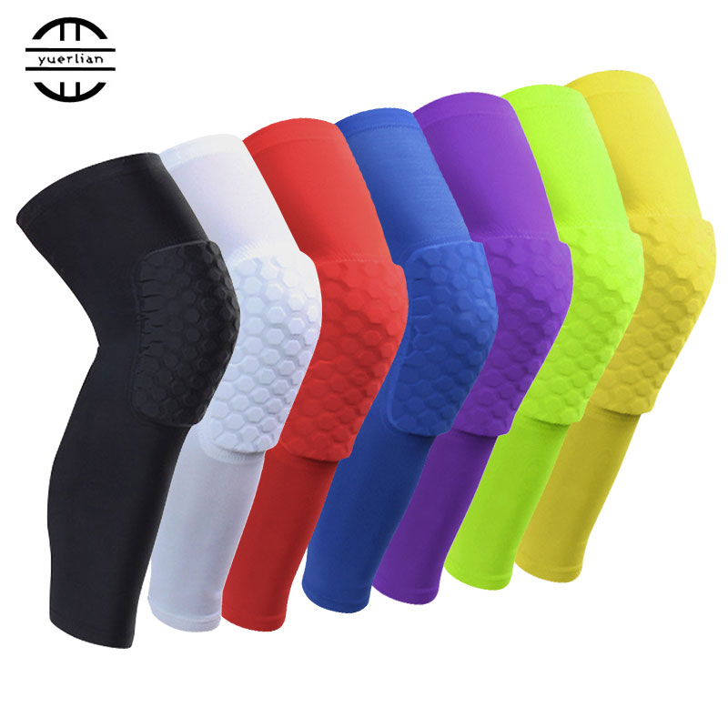 Yel Hot 1 pc Logo Custom Honeycomb Padded Sock Sports Safety Basketball Kneepad Compression Sleeve Knee Brace Protector Knee Pad(China (Mainland))