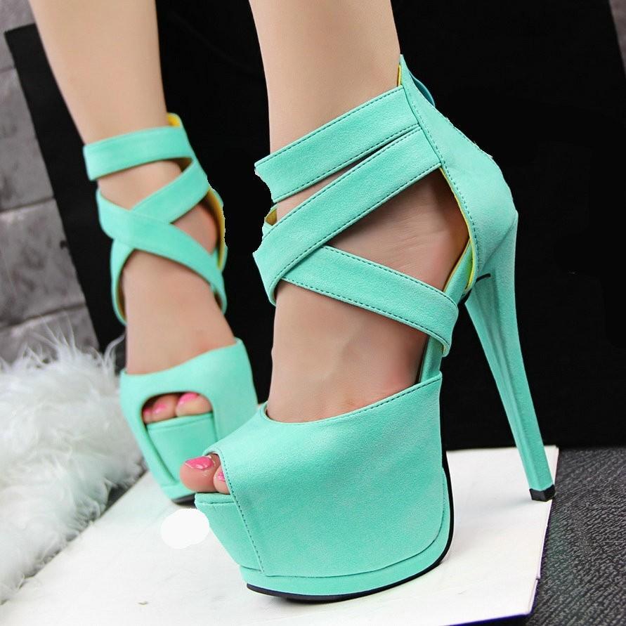 Sexy Green High Heels