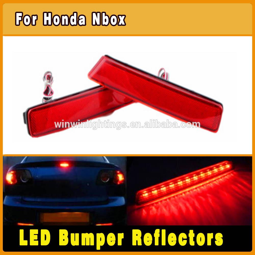Wholesale Red lens LED Rear Bumper reflectors case for Honda Nbox rear light(China (Mainland))