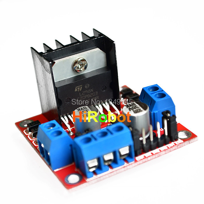 Original chip L298N motor driver board module dc stepper motor intelligent robot car, UAV development, free shipping(China (Mainland))