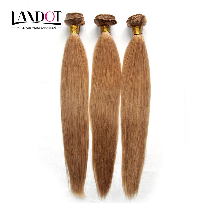 7A Malaysia Blonde Virgin Hair Weaves 3 Pcs Lot Malaysia 27# Human Hair Straight Blonde Remy Hair Extensions 12-28inch Wholesale<br><br>Aliexpress