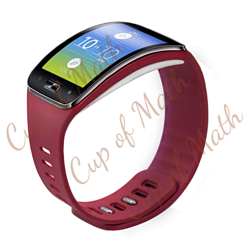 Free Shipping Replacement Rubber Band For SAMSUNG GEAR S Bracelet Band Strap with Metal Clasps Screen