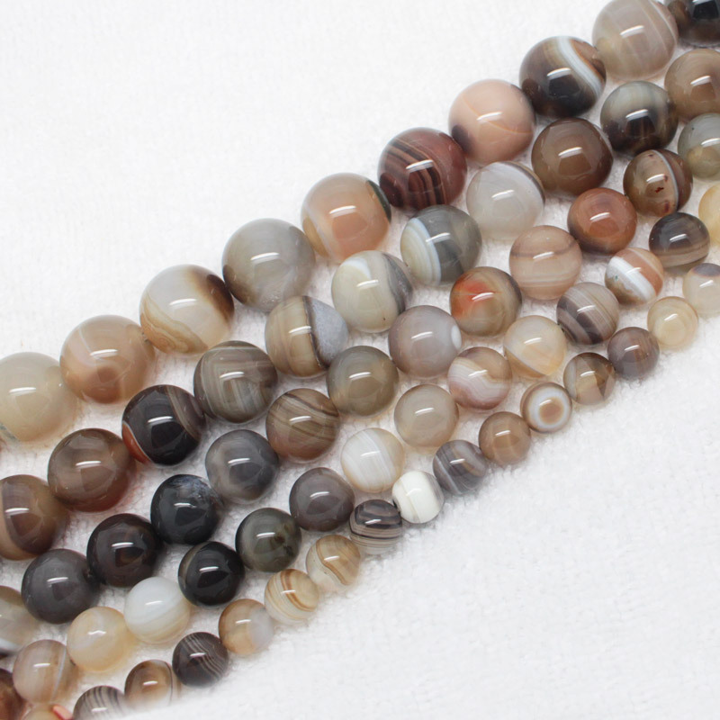 """Botswana Agate 8,10,12,14,16mm Round Beads 15""""/38cm, For DIY Jewelry making ,We provide mixed wholesale for all items!(China (Mainland))"""