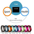 TW64 Cicret Bracelet Pulsera Inteligente Watch Fit Bit Miband Fitness Tracker Smartband Fit Bit Flex Phone