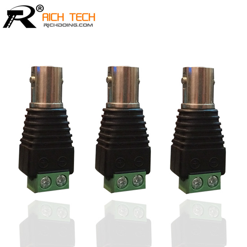 HIGH QUALITY 3PCS/LOT COAXIAL BNC JACK CONNECTOR TO GREEN TERMINAL BLOCK COAX CAT5 TO CCTV CAMERA SYSTEM WHOLESALE BNC ADAPTER(China (Mainland))
