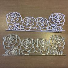 Laço de metal corte dados para diy selo scrapbooking álbum de fotos gravando papel cartões de casamento fazendo artesanato decorativo presente de festa(China)